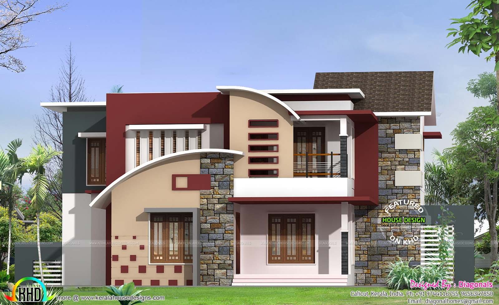 square feet 4 bedroom modern home kerala home design and floor plans