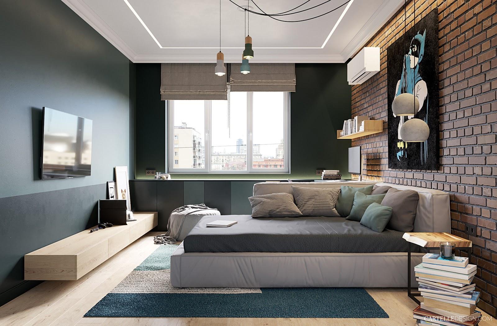 Decordemon apartment in kiev exudes freshness and serenity - Habitaciones juveniles para chicos ...