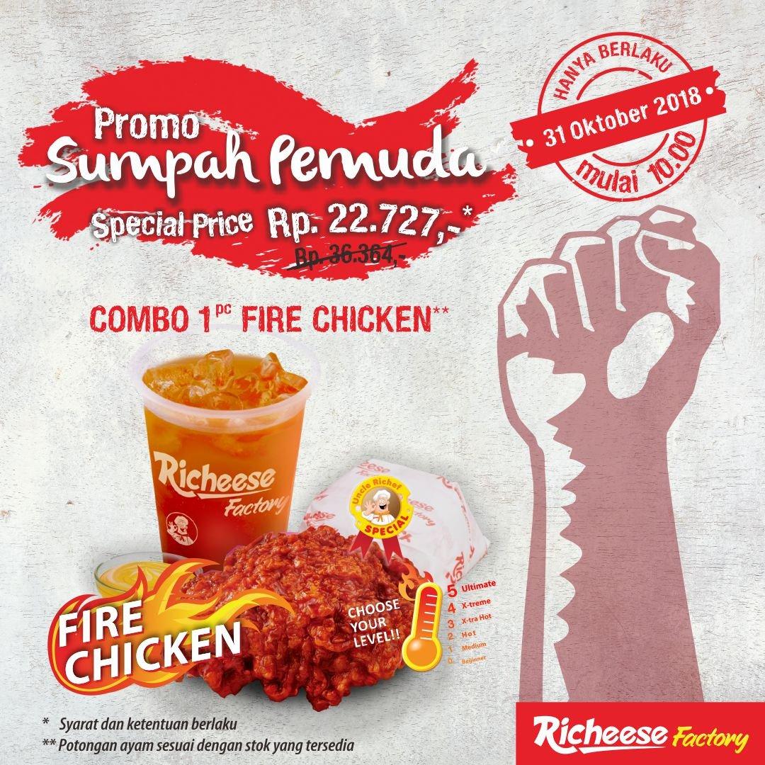 RicheeseFactory - Promo Sumpah Pemuda Special Price Combo Rp.27 Ribuan