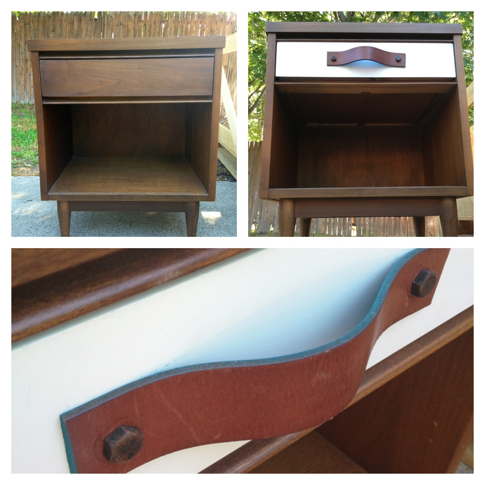 can i spray paint my leather sofa sofas on credit with no checks the happy homebodies diy nightstand facelift