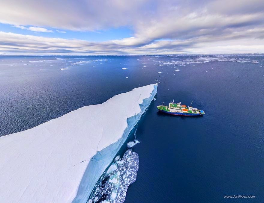 Iceberg - Cold Yet Beautiful Photos Of Antarctica Taken By AirPano
