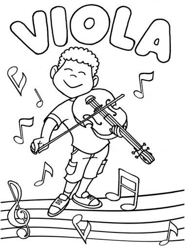 Pinto Dibujos: Viola para colorear