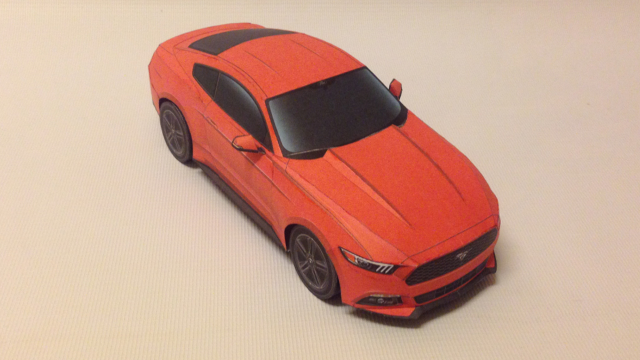Yoshinys design how to make a ford mustang papercraft mustang papercraft altavistaventures Image collections