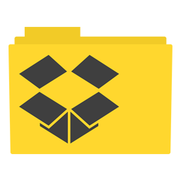 Preview of Drop Box Black Folder Icon