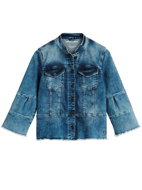 sandwich ¾ sleeve denim jacket