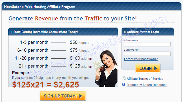 Generate Revenue from traffic of your site with HostGator Affiliate Program