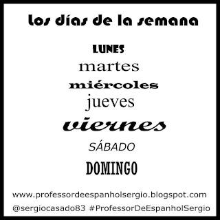 os dias da semana em espanhol, Vocabulário, Aprender Espanhol, Aprender Espanhol Youtube, Espanhol, Curso de Espanhol, Dicas de espanhol