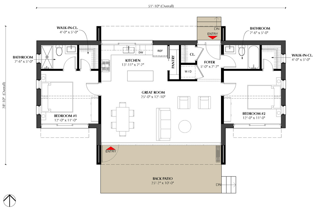 "Two bedrooms may not be a villa, mansion or a castle, but with the right plans and layout, it can be a lot of space for a growing family. The best house layout for any case will rely on how important noise, light, and privacy are to its occupant.  Find some inspiration from these free two-bedroom house floor plans and layout. {EMBED VIDEO 1 HERE NOW!}  HOUSE PLAN 1        Specification: Floor Plan Code: SHD-2012003 Beds: 2  Floor Area: 52 sq.m.  Bungalow House Plans Baths: 1 Lot Area: 110 sq.m.  SOURCE: www.pinoyeplans.com  HOUSE PLAN 2                    FULL SPECS & FEATURES Basic Features: Bedrooms: 2 Baths: 2 Stories: 1 Garages: 0 Dimension: Height : 20' 8"" Depth : 28' 10"" Width : 51' 10"" Area: Total: 991 sq/ft Main Floor: 991 sq/ft Decks: 252 sq/ft *Total Square Footage only includes conditioned space and does not include garages, porches, bonus rooms, or decks. Ceiling: Upper Ceiling Ft : 10' Roof: Secondary Pitch : 2:12 Primary Pitch : 12:12 Exterior Wall Framing: Framing: 2x6 Exterior Wall  Finish: Wood Siding Insulation: R41 Bedroom Features: Main Floor Master Bedroom Walk-In Closet Main Floor Bedrooms Kitchen Features: Walk In Pantry Cabinet Pantry Kitchen Island Additional Room Features: Great Room Living Room Main Floor Laundry Lot Characteristics: Suited For Corner Lot Suited For View Lot Suited For Narrow Lot Outdoor Spaces: Covered Rear Porch Grill Deck Sundeck  SOURCE: www.houseplans.com  {INSERT ANOTHER 5 IMAGES OR VIDEO HERE} HOUSE PLAN 3               FULL SPECS & FEATURES Basic Features: Bedrooms: 2 Baths: 1 Stories: 1 Garages: 1 Dimension: Height : 13' 11"" Depth : 43' 3"" Width : 37' 11"" Area: Total: 838 sq/ft Main Floor: 838 sq/ft *Total Square Footage only includes conditioned space and does not include garages, porches, bonus rooms, or decks. Additional Room Features: Master Sitting Area Mud Room Garage Features: Garage Under Outdoor Spaces: Grill Deck Sundeck More: Economical To Build Wheelchair Adaptable Suited For Vacation Home  SOURCE: www.houseplans.com"