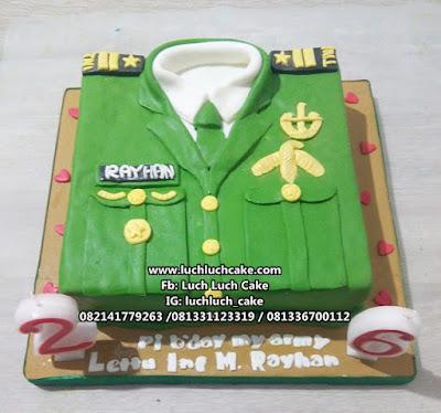 Kue Tart Baju Tentara TNI AD