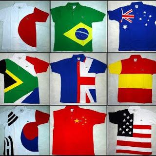 026a7dab57560 Camisetas Originais Varia marcas  CAMISETAS LACOSTE PAISES