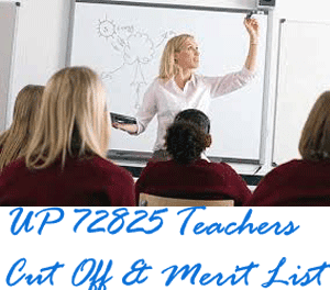 UP 72825 Teachers Merit List, Cut Off Latest News 2015