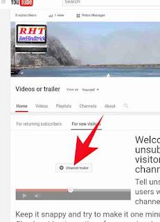 YouTube channel trailer video set kese kare 5