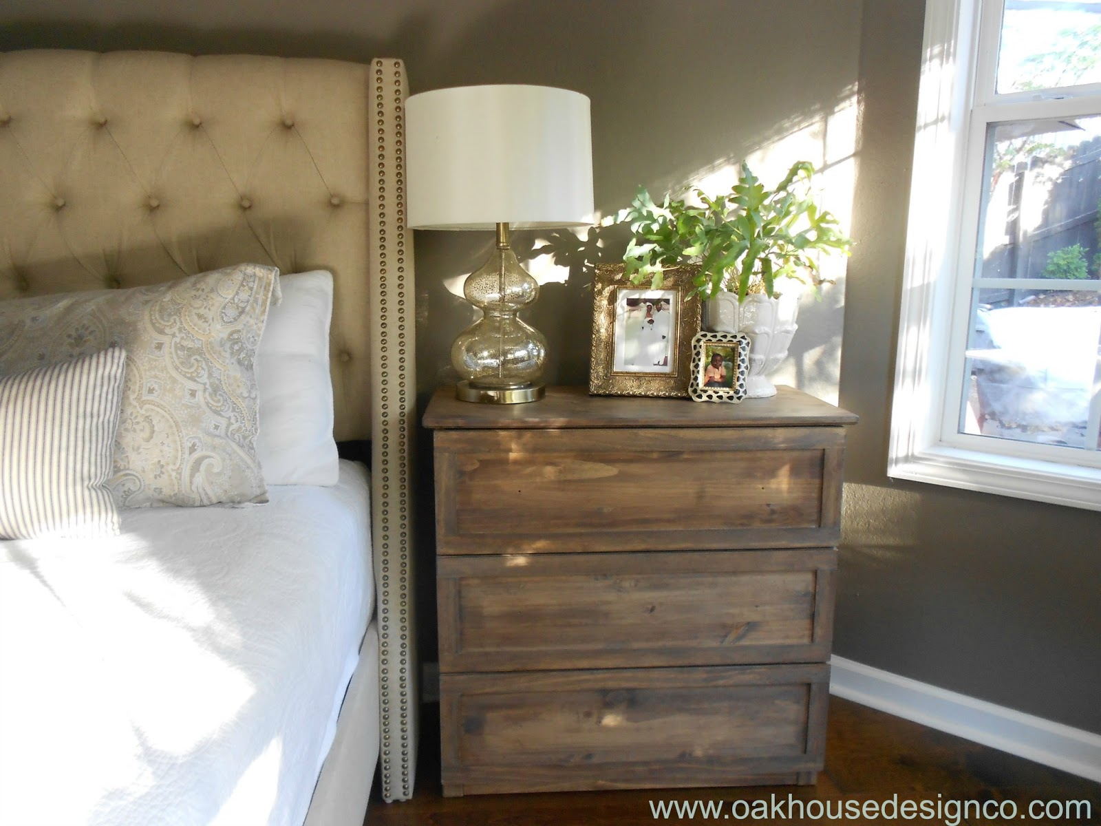 The New Nightstands An Ikea Tarva Hack Oak House Design Co