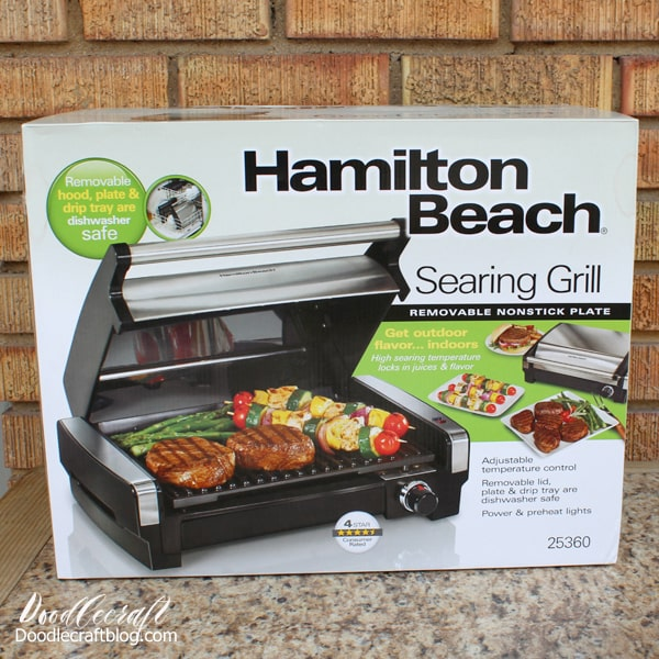 Brand new hamilton beach indoor countertop grill