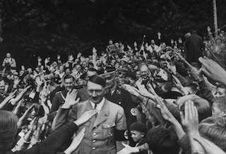 Hitler at a Nazi Party Rally