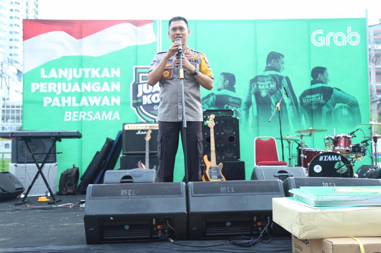 Kapolrestabes Medan Himbau Mitra Grab Medan Topinformasi Com
