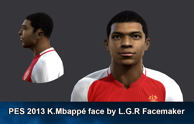 PES 2013 K. Mbappé face by L.G.R Facemaker