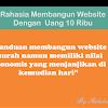 Rahasia Membangun Website Murah Dengan Uang 10 Ribu
