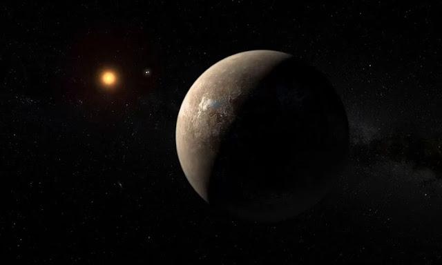 Ilustração artística do exoplaneta Barnard Star b