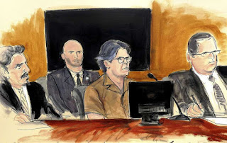 In this courtroom sketch Keith Raniere