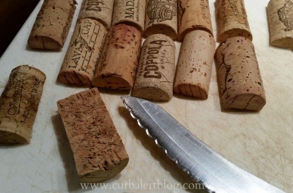 Curb Alert! : The Best Tip For Cutting Wine Corks In Half