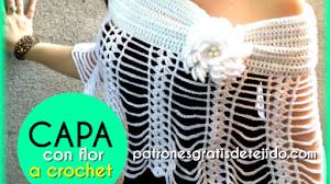 Cómo Tejer Capa Crochet con Flor / Tutoriales de Español y en Italiano