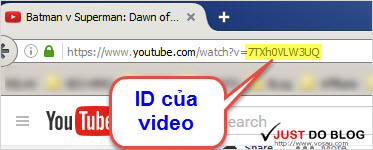export youtube id from url