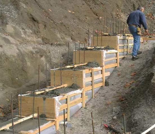 Stepped foundation on Sloping Grounds