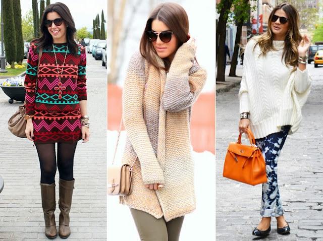 Blogueiras usando tricot