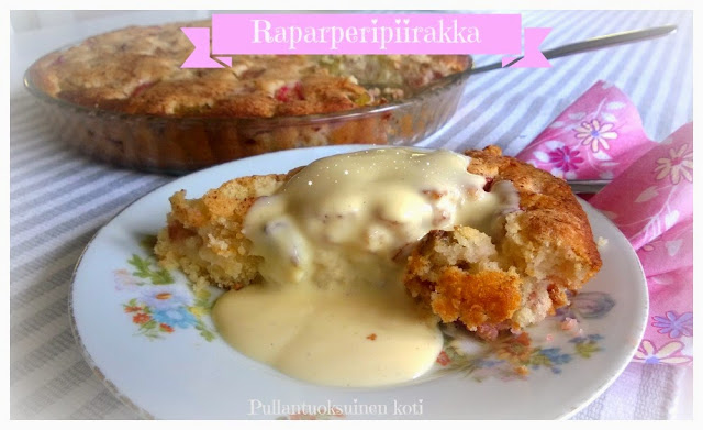 #helppo #raparperi #piirakka #rhubarb #pie #baking