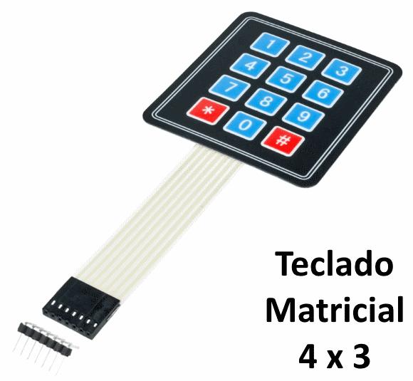 Teclado matricial membrana 4x3 com Arduino - Arduino e Cia