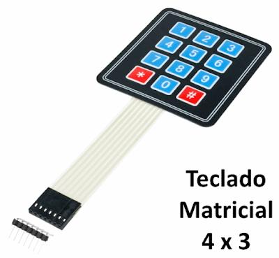 teclado matricial membrana 4x3 Arduino