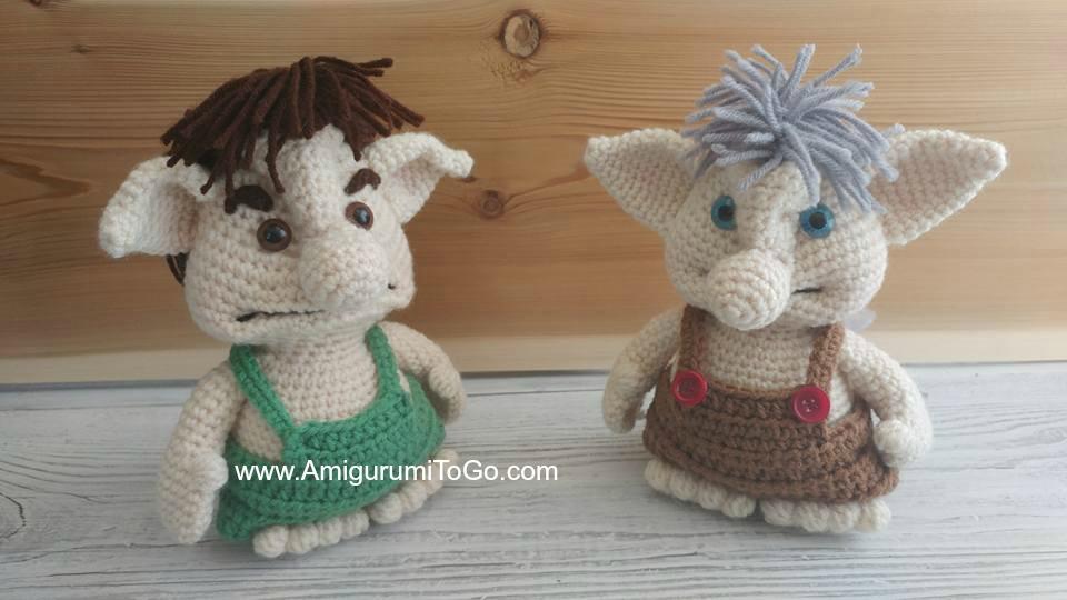 Crochet Bobble Trolls Amigurumi To Go Beauteous Trolls Crochet Pattern