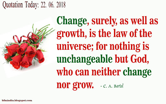 Quotation Today:22.06.2018