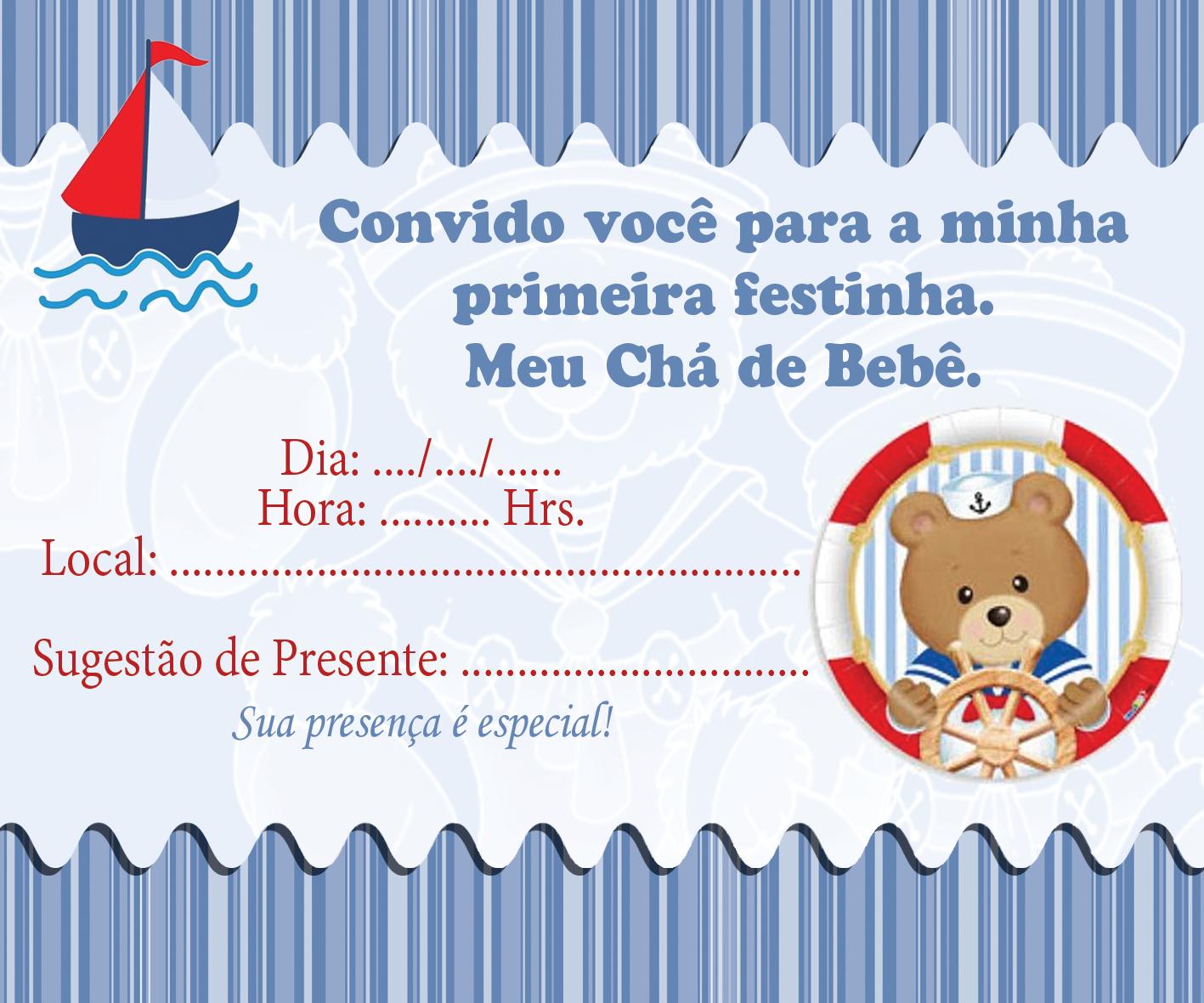 Excepcional Convites para Chá de Bebê editáveis grátis para baixar, editar e  EN99