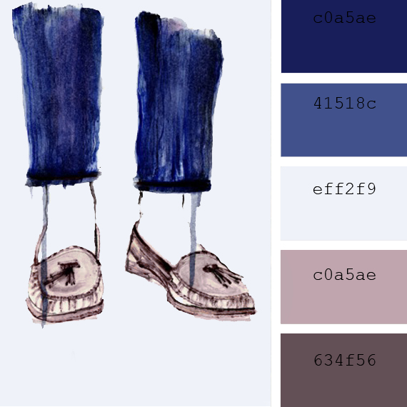 lila color palette, annabel briens illustration