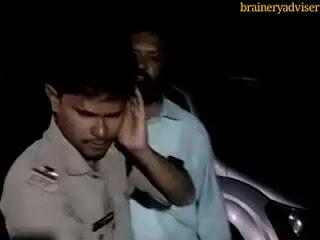 telugu-desham-mlc-son-give-punishment-police-inspector-kurnool-andhra-pardesh-checking-car-fake