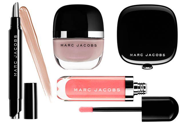 Marc Jacobs Beauty, foundation, lip gel, lip gloss lacquer, lipstick, brush, bronzer brush