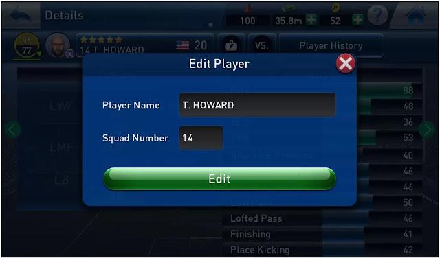 Cara Merubah Nama dan Nomor Pemain PESCM