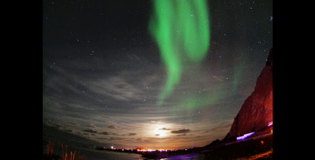 Aurora borealis, the northern lights, seen from Andøya in Norway. Credit: Kjartan Olafsson.