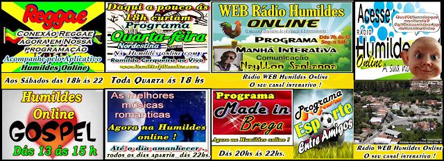 Pprogramação da Rádio WEB Humildes Online