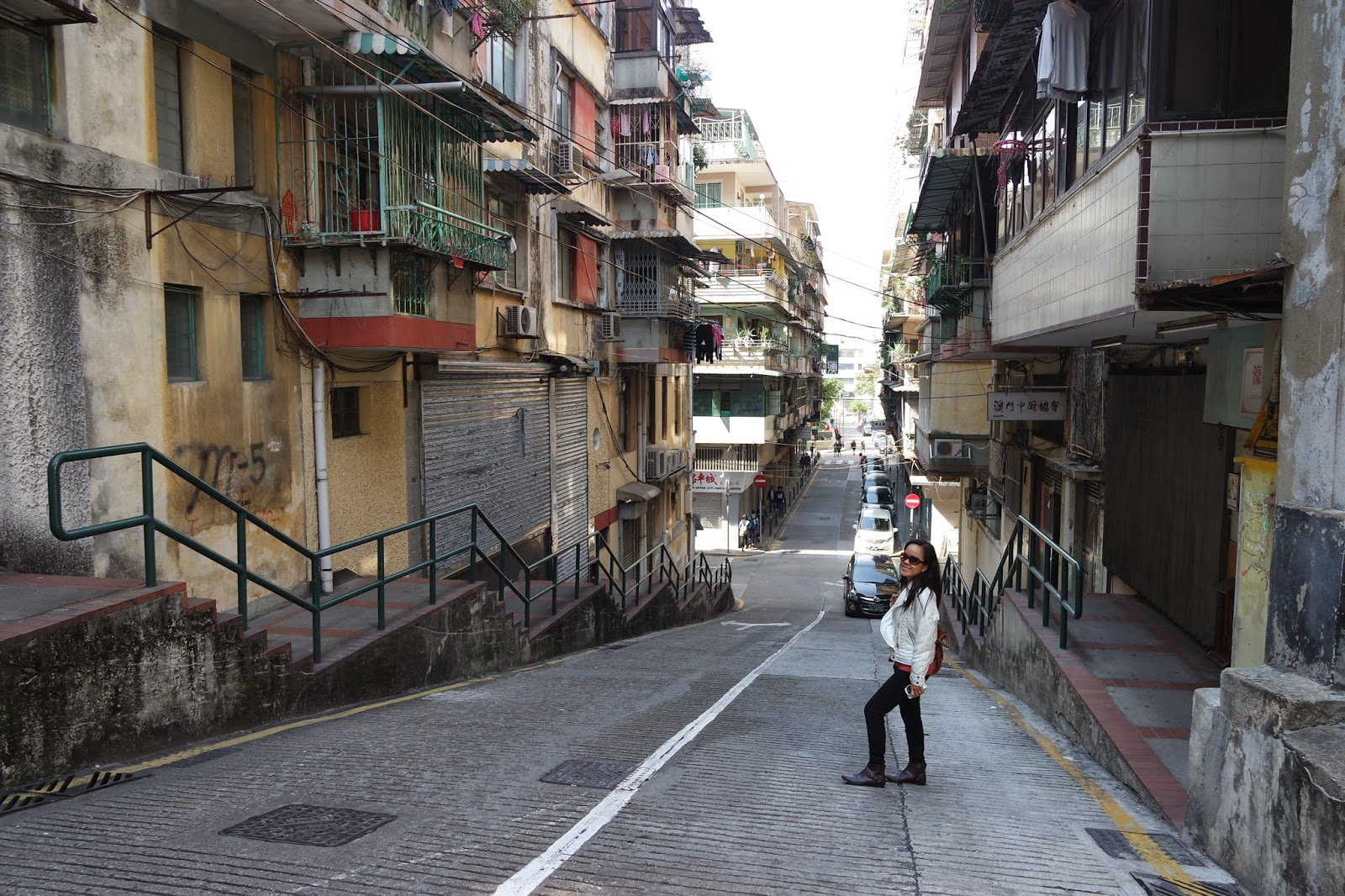 LivingMarjorney at streets of Macau