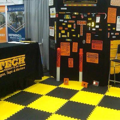 Greatmats Yellow and Black Foam Floor Tiles Trade Show Flooring
