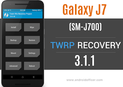 TWRP Recovery for Galaxy J7 SM-J700