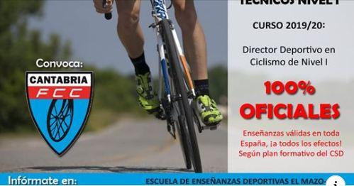 Fórmate como Director Deportivo en Ciclismo de Nivel I