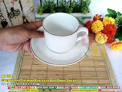 Cangkir Dan Tatakan Espresso List Emas Sango