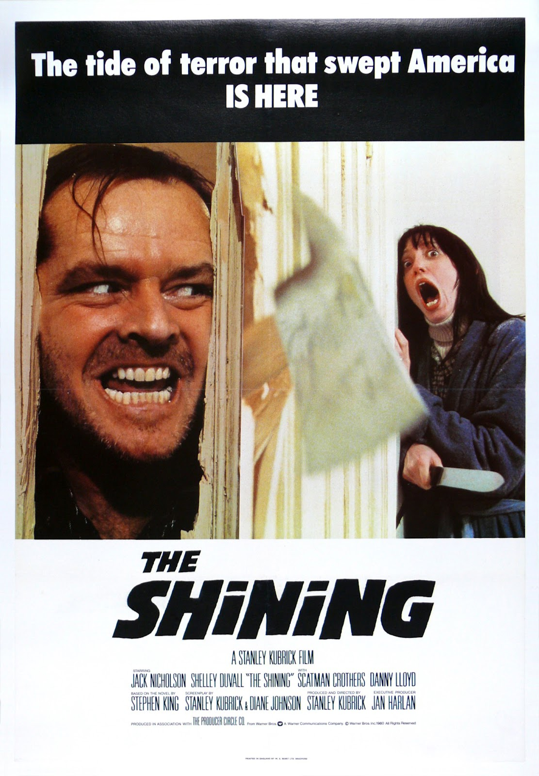 The Geeky Nerfherder: Movie Poster Art: The Shining (1980)
