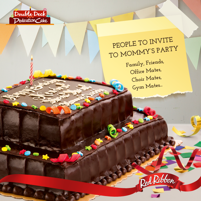 Red Ribbon Double Deck Dedication Cake Price