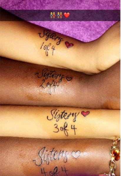Four Sisters Get Matching Tattoos - Family - Nigeria
