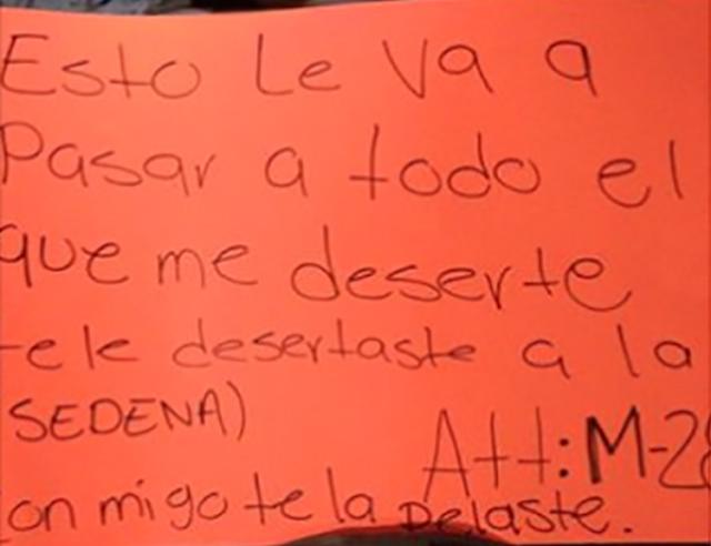 """""""CON MIGO TE LA PELASTE"""" EX-MILITAR DESERTA AL """"PELOCHAS"""" M-28 DEL CDG Y LO EJECUTAN"""